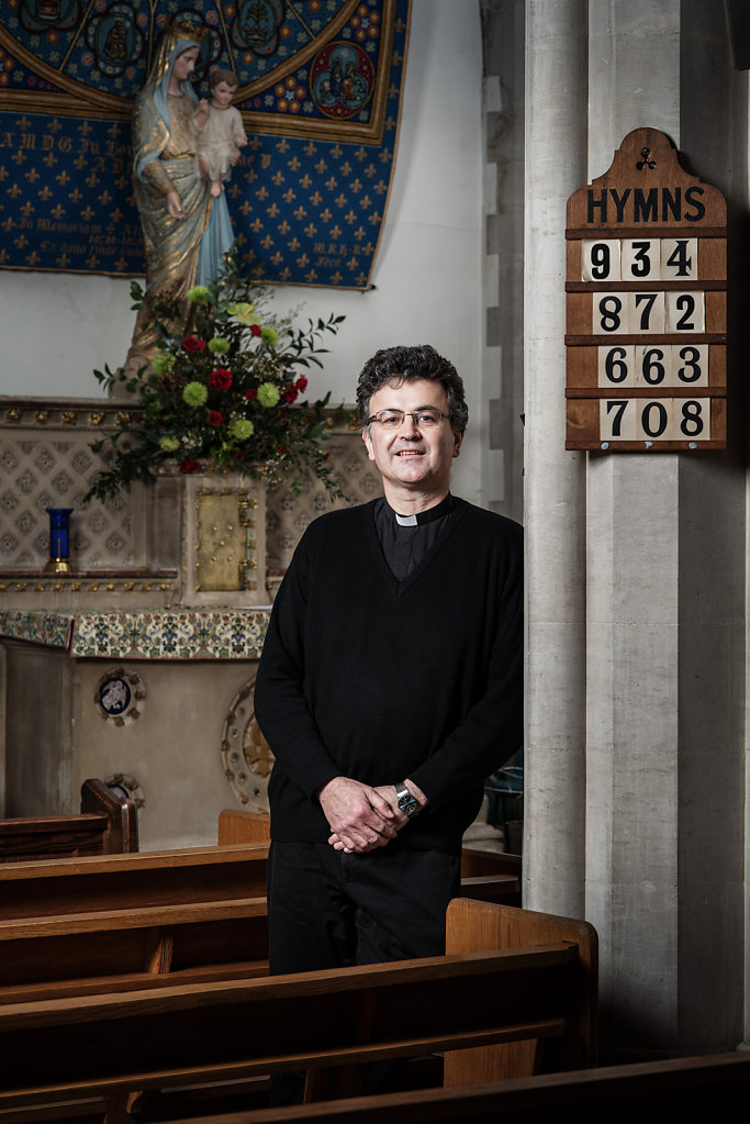 Father Dominic Rolls photographed at St Josephs Church